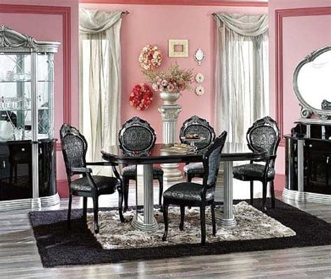 modern black dining room sets luxury designer dining room sets 8 home designs modern black and igf usa