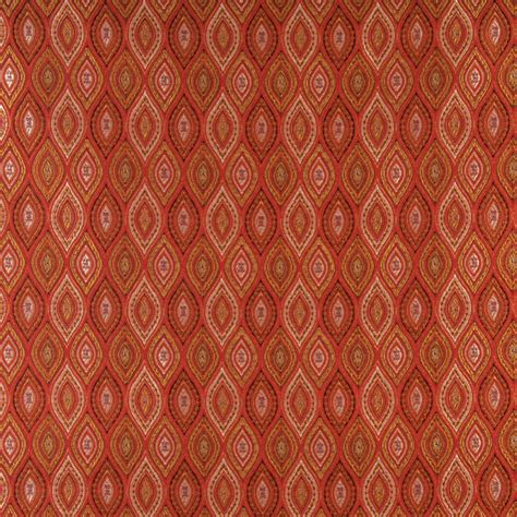 moroccan upholstery fabric beige red and coral abstract diamond or moroccan pattern