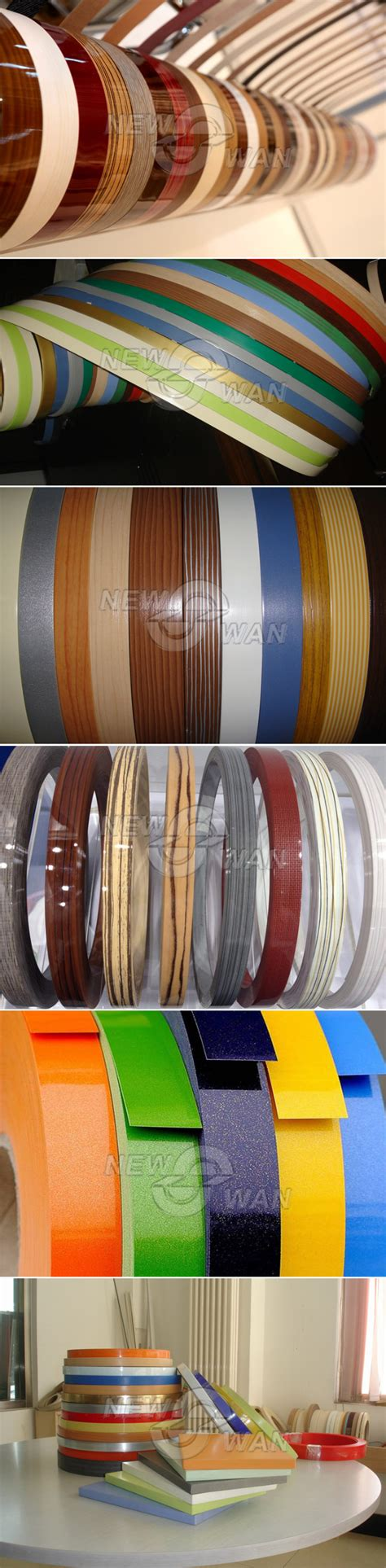 self adhesive cabinet edging tape pvc adhesive edge banding tape for mdf furniture kitchen