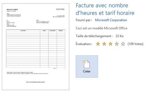 Modèle Facture Word