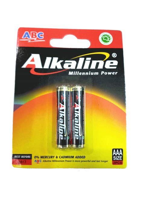 Baterai Abc Power Aaa 1 Renteng Battery A3 Batere Batre Isi 12pc abc battery alkaline aaa lr03 2 s millennium pwr pck