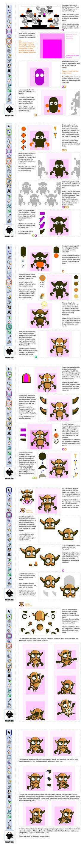 inkscape tutorial game character daydreamoz chris hildenbrand deviantart