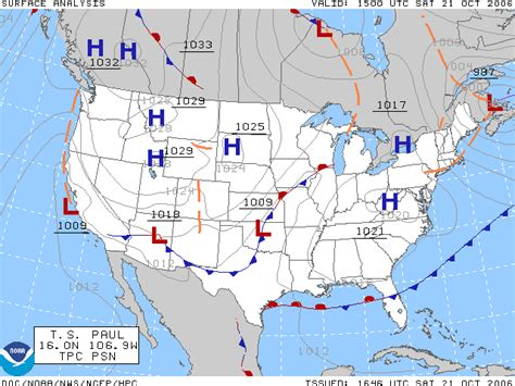 us weather map with station models surface weather analysis