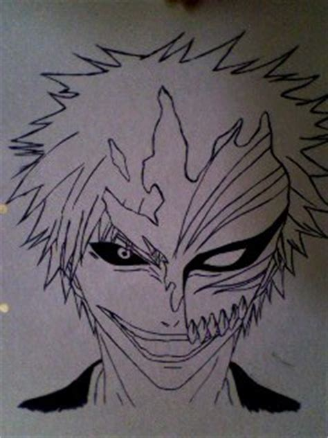 Ink Hollow ichigo kurosaki hollow mask ink by shanniquexhinata on