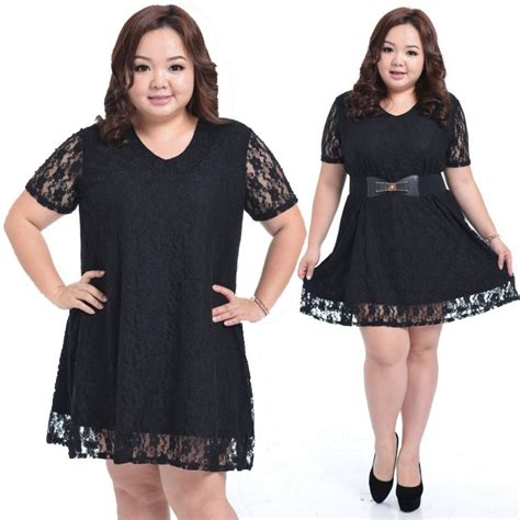 clothes for short heavy women sexy lace hit color fat women dress fashion plus size xxxl