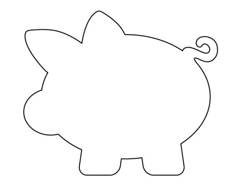 pig template piggy bank pattern use the printable outline for crafts