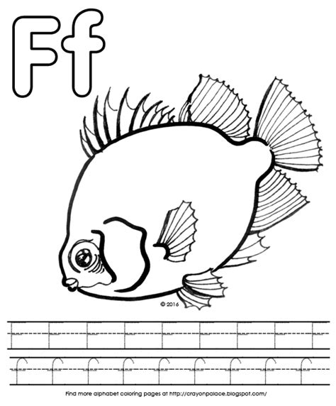 F Fish Coloring Page by Quot F Is For Fish Quot Alphabet Coloring Page Crayon Palace