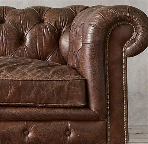 old couch restoration restoration hardware kensington leather sofa in vintage