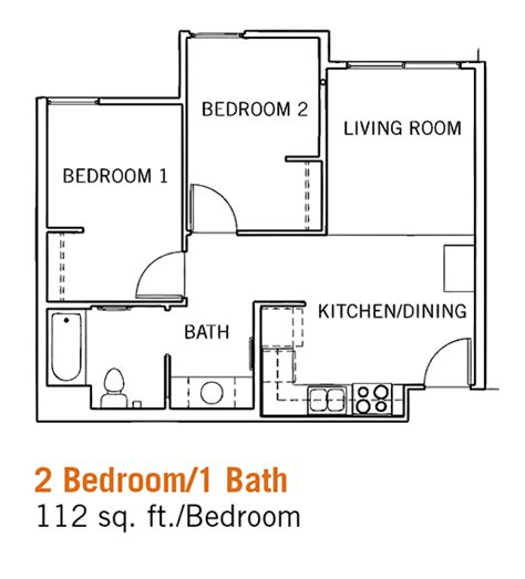 Single Bedroom Apartment Floor Plans by Glen Mor