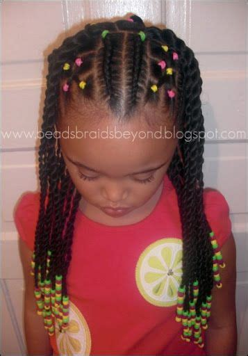 girl hairstyles with beads sister twists and cornrows with beads hairstyles mya