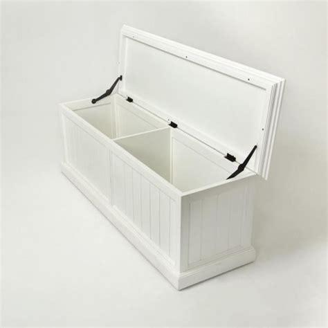 Banc Coffre De Rangement Blanc by Banc Coffre De Rangement En Bois Blanc Royan