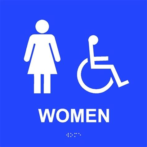 Womens Bathroom Sign by Ada S Restroom Sign