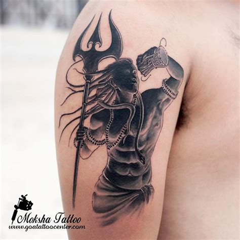 shiva tattoo done by mukesh waghela at moksha tattoo
