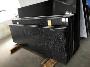 steel grey and absolute black granite countertops
