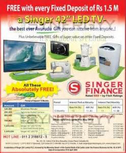 new year fixed deposit promotion singer finance fixed deposits interest rates and free
