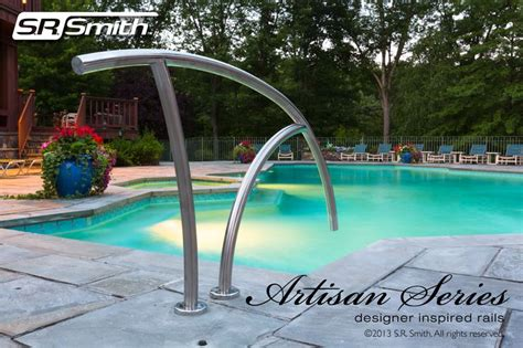 Inground Swimming Pool Handrails s r smith s new artisan series designer inspired rails add functional elegance to any pool