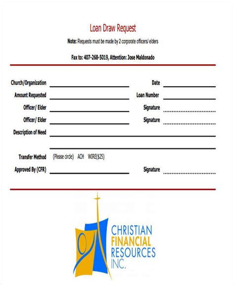 loan request form sle loan request forms 12 exles in word pdf