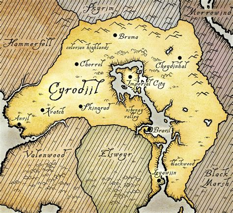 oblivion map cyrodiil the imperial library