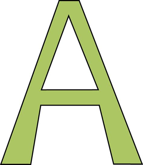 Letter Clipart Green Letter A Clip Green Letter A Image
