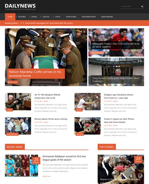 News Site Template Free by Joomla Website Templates Beneficialholdings Info