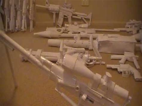 paper gun collection youtube
