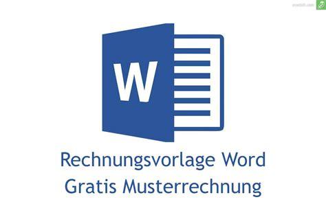 rechnungsvorlage word gratis downloaden everbill magazin