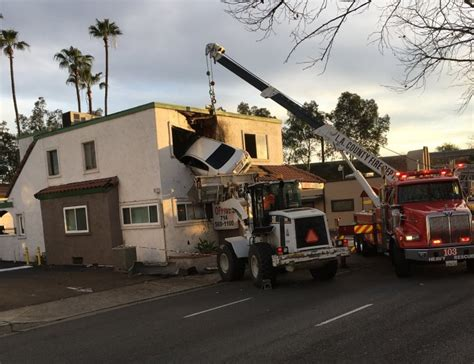 st goes on what side santa ana ca car goes airborne slams into 2nd floor of