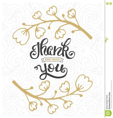 thanksgiving thank you card template thanksgiving lettering and calligraphy design vector