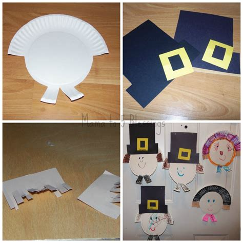 Paper Plate Pilgrim Craft - paper plate pilgrim craft learn link with linky