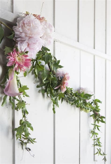 diy wedding garland ideas how to make a floral garland rustic wedding chic