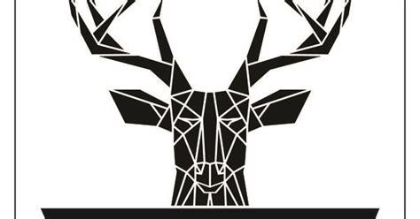 vsa tattoo logo stencilize stag logo branding geometric stag logo design