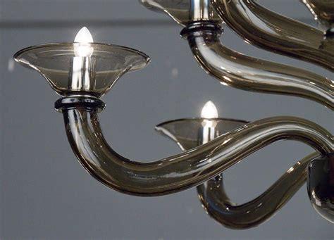 Murano Smoked Mercury Glass Chandelier For Sale At 1stdibs Mercury Glass Chandeliers