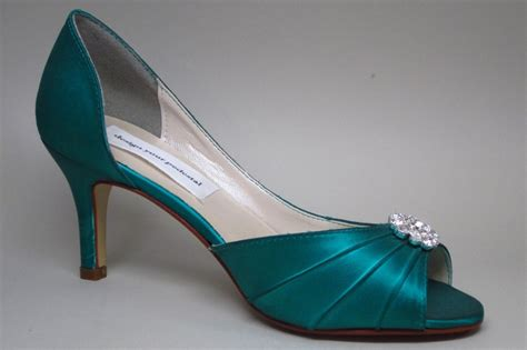 blue and green shoes wedding shoes jade green blue kitten heels with