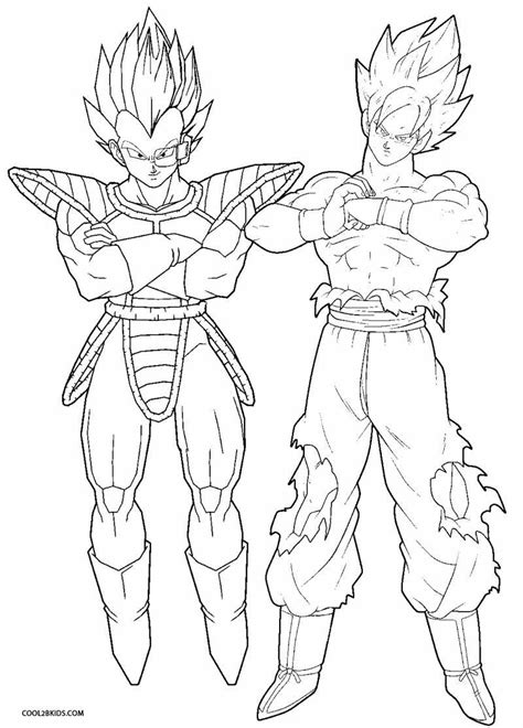 Coloring Page Goku by Printable Goku Coloring Pages For Cool2bkids