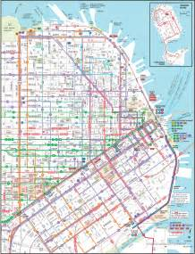 san francisco map of downtown san francisco downtown transport map mapsof net