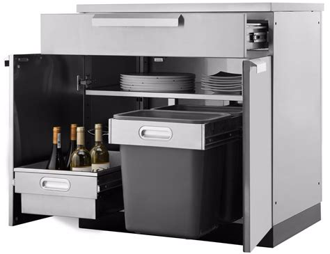 Barbecue Cabinets Outdoor Kitchen Bbq Cabinets Stainless Steel Garagepride
