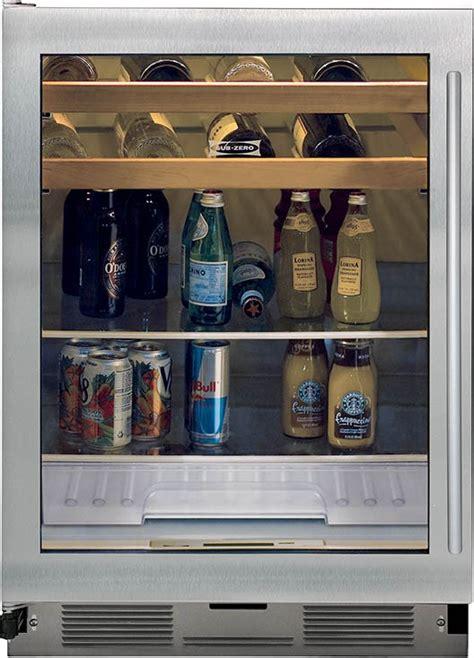 glass door beverage center sub zero uc24bg s th glass door beverage center with