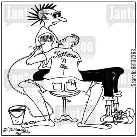 tattoo cartoon jokes tats cartoons humor from jantoo cartoons