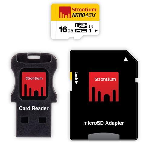 Strontium 16 Gb Nitro Lite 65 Mb S Micro Sdhc Card Class 10 Uhs 1 Us strontium nitro 433x microsdhc uhs 1 65mb s class 10 16gb