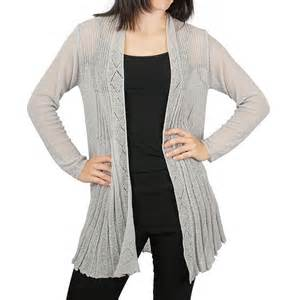 Drape Front Cardigan Ethyl Pleated Cardigan Sweater Open Front For Women
