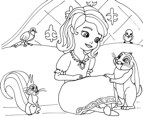sofia the first characters amber coloring pages coloring pages