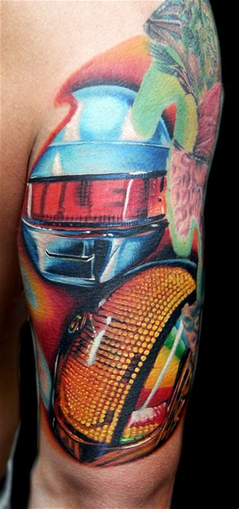 daft punk tattoo cecil porter illustration tattoos custom daft