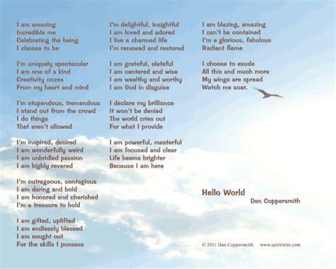 printable self esteem quotes hello world self esteem poem