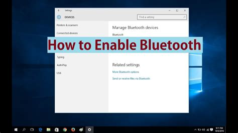 how can i get bluetooth to work on windows server 2012 how to enable bluetooth in windows 10 youtube