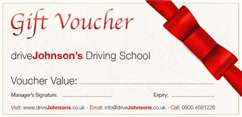 printable driving lesson voucher template gift vouchers for all occasions drivejohnson s