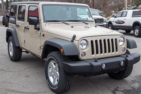 sand jeep wrangler 2016 jeep wrangler sport mojave sand ext conversion jeep