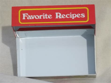 made favorite recipes cookbooklet books vintage ohio recipes box metal litho print tin for