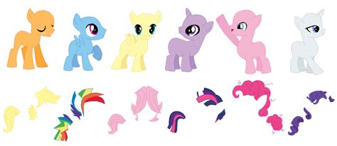 my little pony mane 6 base mane 6 colts base by selenaede on deviantart