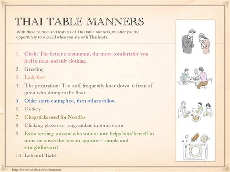 Table Manners by Thai Table Manners