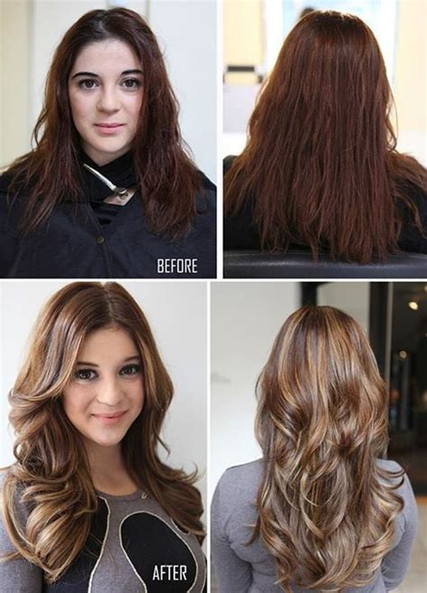 cut before dye hair before after color haircut hair extensions keratin